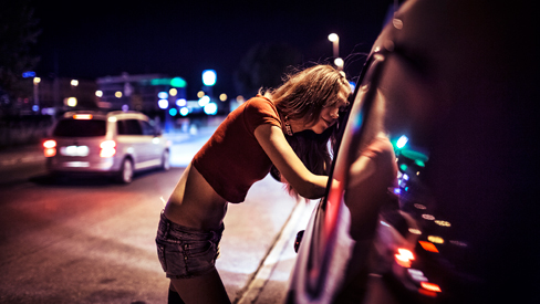 prostitute at car